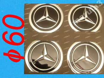 MERCEDES BENZ znak logo na kola disky 60mm 4ks