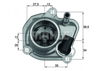 Termostat CHRYSLER PT CRUISER (PT) 2.2 (87°)