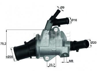 Termostat FIAT CROMA (194) 2.4 (88°)