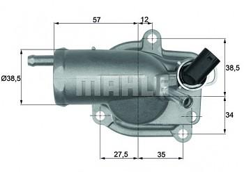 Termostat MERCEDES C-CLASS (W202) C200 C220 C36 (87°)