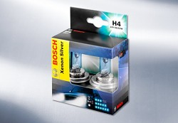 Žárovky H4 BOSCH Xenon Silver - sada 2ks