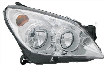 Světlo přední OPEL ASTRA H 07-12 stříbrné