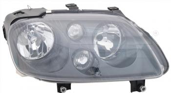 Světlo přední VW TOURAN 1T 04-06 černé H1+H7