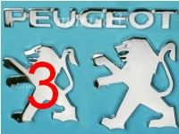 Znak Logo PEUGEOT 106 206 307 607 100mm