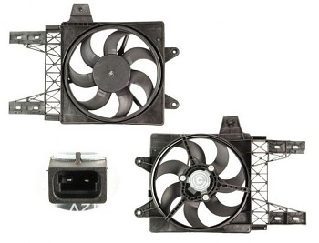 Ventilátor chlazení chladiče FIAT PUNTO 55 60