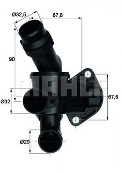 Termostat AUDI A4 (B7 8E 8H) A6 (4F C6) 2.0 TFSI  (87°)
