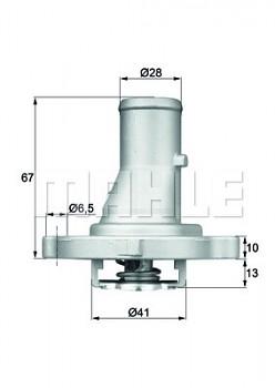Termostat FIAT PANDA (169 141A) PUNTO (176 188) (87°)