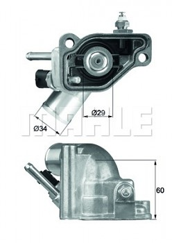 Termostat OPEL ASTRA G (T98) H (A04) 1.8 (92°)