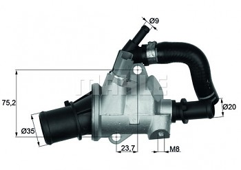 Termostat FIAT BRAVO (198) STILO (192) 1.9 (88°)