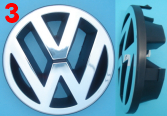 VW logo znak PASSAT - GOLF IV 4 po 97r 115mm