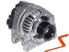Alternátor VW BORA GOLF IV 1.6 1.8 1.9TDI - 90A