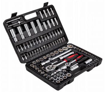 Sada gola klíčů v kufříku, CrV ocel, 108 dílů