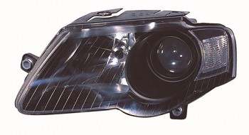Světlo přední VW PASSAT B6 05-10 černé