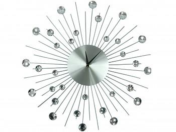 Nástěnné hodiny s krystaly 50cm SUN