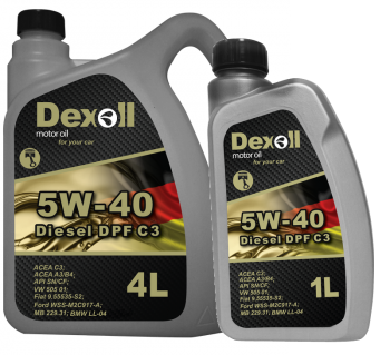 Olej Dexoll 5W-40 Diesel DPF C3