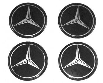 Znak Logo Hvezda na poklice - MERCEDES BENZ 70mm