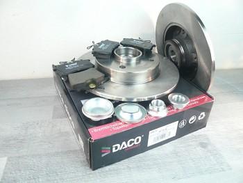 Brzdy kotouče a desky zadní s ložiskem PEUGEOT 307 - DACO