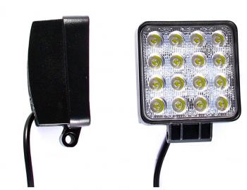 Pracovní či couvací světlo 16 LED 48W 12V 24V HOM E50