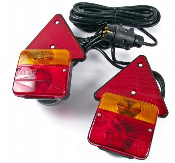 Světla na přívěsný vozík s kabelem