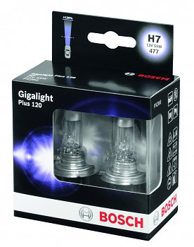 Žárovky H7 BOSCH Giga Light Plus 120 - sada 2ks