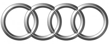 Znak Logo AUDI 80 100 A3 A4 A6 B4 18x6cm ZADNÍ