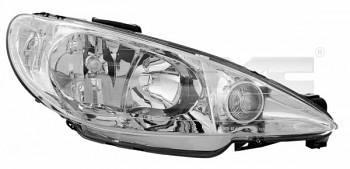 Světlo světla reflektor přední Peugeot 206 do 2005