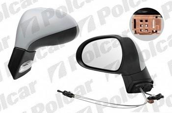Zpětné zrcátko PEUGEOT 207 manuální s blinkrem