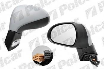 Zpětné zrcátko PEUGEOT 207 elektrické s blinkrem