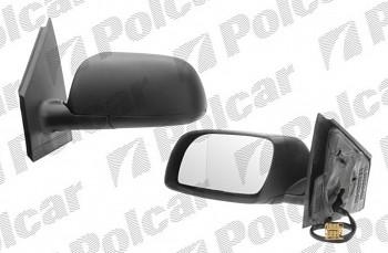 Zpětné zrcátko VW POLO 9N 01-05 elektrické