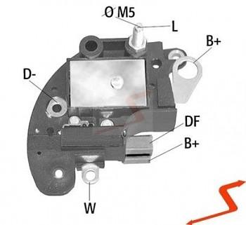 Regulátor napětí pro alternátory FIAT 136432